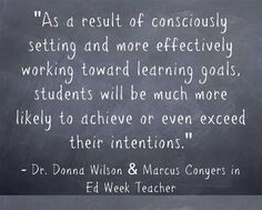 Here are useful tips to help students set good goals.