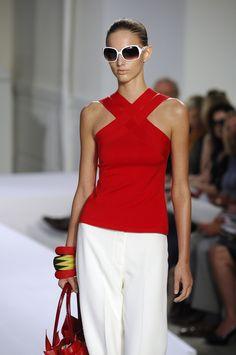 Oscar de la Renta, loving the red top with white~~