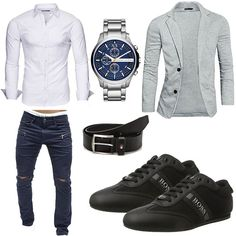 Best Men's casual outfits Casual Fall Outfits, Men Casual, Casual Styles, Ropa Semi Formal, Mode Man, Herren Style, Herren Outfit, Outfit Grid, Mode Outfits