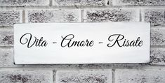 "Italian saying Mother's Day "" Life - Love - Laughter"" in Italian, Italy, Home Decor, Kitchen Sign, Mom on Wanelo"
