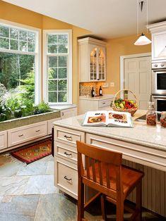Raised Kitchen Island Vs Flat Island Google Search Kitchen