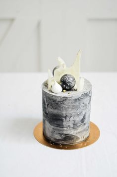 Concrete Styled Cake by LionHeart