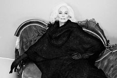 Carmen Dell'Orefice, photographed by Tim Petersen