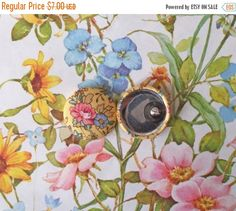 SALE ends 4/24 Button Earrings / Fabric Covered / Wholesale