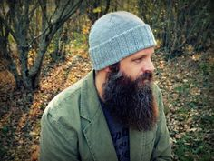 "Ready to Ship / World War II inspired ""Watchman's cap"", men's hand knit hat, men's winter hat, brown knit hat, superwash wool :"