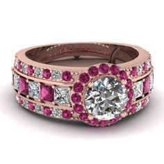 rose-gold-round-white-diamond-engagement-wedding-ring-with-dark-pink-sapphire-in-pave-prong-set-FDENR8882RORGSADRPI-NL-RG