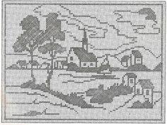 Kira scheme crochet: Scheme crochet no. Crochet Edging Patterns, Filet Crochet Charts, Cross Stitch Charts, Cross Stitch Designs, Cross Stitch Patterns, Crochet Designs, Cross Stitching, Cross Stitch Embroidery, Fillet Crochet