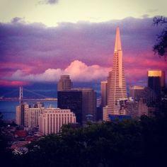 Nightfall in San Francisco.