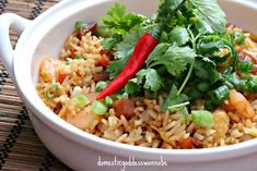 Fried Rice With Shrimps And Bak Kwa