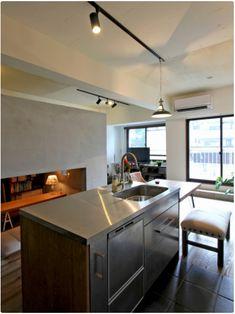 洞窟を作ることでコンパクトでも色々!広々!なマンション - 物件ファン Home Kitchens, Kitchen Island, Architecture, Interior, Furniture, Home Decor, Island Kitchen, Arquitetura, Decoration Home