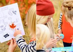Take the kiddies on a Nature Hunt!  FREE printable!  Cute idea! :-)