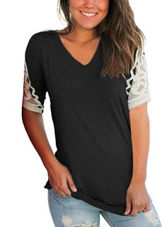 Womens Shirts Short Sleeve Lace Cat Print Lace-up Loose Casual Tunic Tops Blouse T-Shirt for Women Ladies Teen Girls