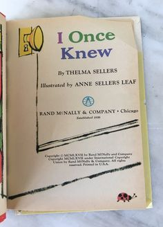 vintage I Once Knew book by thelma Sellers Rand McNally Elf 8142, 1967 children's hardback by MotherMuse on Etsy