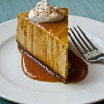 ... and tested Pumpkin Cheesecake with Gingersnap Crust and Caramel Sauce