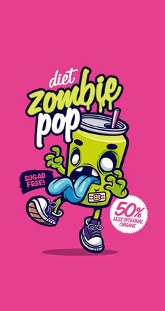 Cute & Funny Pop Art cartoon wallpaper for iPhones! Diet zombie pop - @mobile9 | Wallpapers for iPhone 5/5S/5c, iPhone 6 & 6 Plus #background #art #zombie
