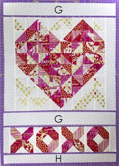 Hugs and Kisses Mini Quilt Tutorial and Giveaway Afghan Crochet Patterns, Quilt Patterns, Stitch Patterns, Sewing Patterns Free, Knitting Patterns, Free Pattern, Sewing Machine Projects, Quilted Gifts, How To Start Knitting