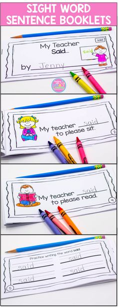 These 92 little, six page booklets, contain all of the Pre-Primer and Primer Dolch Words. Each booklet focuses on one sight word. Students read four predictable sentences and write in the sight word. Picture support is included on each page. On the fifth page, they practice writing the sight word four times.