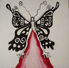 Tara Verde, Tree Woman, Sacred Feminine, Drawings, Watercolors, Butterfly, Wolves, Art