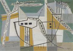 Compositie vrije vormen - E. Majoor - 1956  Maat: 66cm x 95cm  Materiaal: tempera op paneel (board)  Inventarisnummer: SZ7677