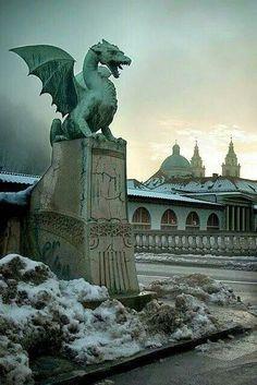 The Dragon Bridge in Slovenia.
