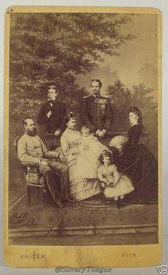 Franz Josef, Rudolf, Gisela & Leopold with 2 children and Elisabeth