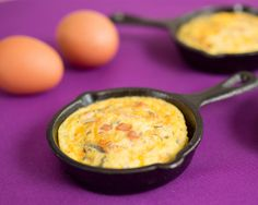 Ham And Cheese Individual Frittatas - upwave 100 Calorie Breakfast, New Recipes, Healthy Recipes, 100 Calories, Ham And Cheese, Frittata, Drink, Food, Beverage