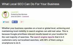 What Local #SEO Can Do For Your #Business