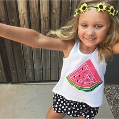 Watermelon Racer back Hi Low tank tops are available in our Shop! Perfect for Summer!!