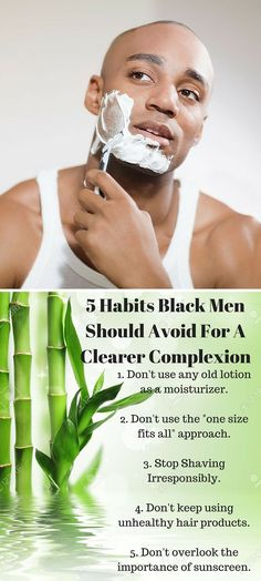 Many men are under the impression that a proper skin-care regimen isn't necessary unless you are a woman. This is nowhere near the truth. http://blog.nyrajuskincare.com/2016/02/26/5-habits-black-men-should-avoid-for-a-clearer-complexion/