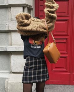 cosy knits and check skirts