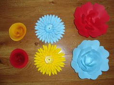 6 Mini Paper Flowers by DreamEventsinPaper on Etsy $35.00