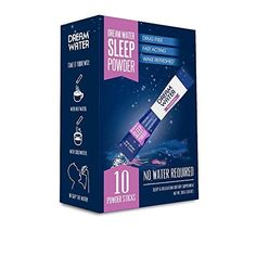 Dream Water Sleep Powder Natural Sleep Aid GABA Melatonin 5-HTP Snoozeberry 10 Count Top Rated