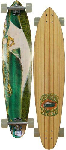 """Sector 9 Green Bush Longboard Skateboard - White by Sector 9. $179.95. The Green Bush longboard skateboard from Sector 9 is a Bamboo board which is a fast, smooth riding board that is a part of the """"Bamboo Series"""". This board features 5 Ply vertically laminated bamboo that utilizes the patented lamination process. Style: Concave; Trucks: Gullwing 9"""" Chargers; Bearings: ABEC5 PDP; Wheels: Nineball 70mm, 75a; Construction: Bamboo; L: 42.00""""; W: 9.25"""". WB: 31.50"""""""