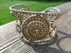 Vintage Bracelet / Cuff Ornate Twisted Rope Copper by KathiJanes, $8.95