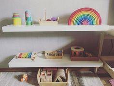 Toy shelf. #montessori #montessoriroom #montessorihome #montessoriathome #montessorilife #montessorishelves #kidsroom #kidsshelf #playroom #playarea #woodentoy #woodentoys #ikea #ikeahack #ikeashelfie #ikealack