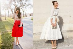 Midi Skirt and skirts below the knee: super trendy summer 2014!