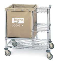 Metro Lodgix Houserunner Pro Cart is designed to support the housekeeping function. Useful for the collection of soiled linens as well as the restocking of housekeeping carts.  Select from three models to fit a variety of needs.