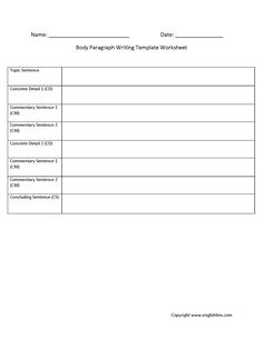 This is the paragraph writing worksheets section. Paragraph writing is the foundation for all essay writing. Teaching Paragraphs, Paragraph Writing Worksheets, Introductory Paragraph, Algebra Worksheets, Reading Comprehension Worksheets, 1st Grade Worksheets, Printable Worksheets, 3rd Grade Writing, Writing Practice