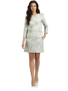 Philosophy di Alberta Ferretti - Plaid Wool Dress - Saks.com