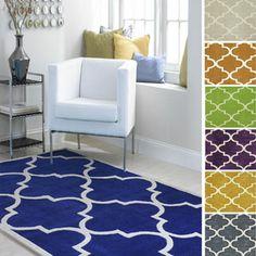 Overstock nuLOOM Handmade Luna Moroccan Trellis Rug (6' x 9').  Blue, Gold, or Gray $177