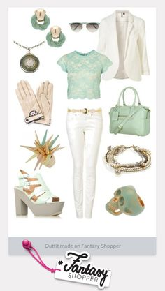 Pastel Outfit created on Fantasy Shopper #pastel #mint