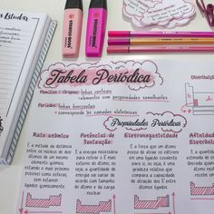 ideas diy cuadernos quimica for 2019 Pretty Notes, Good Notes, Note Taking Tips, Mental Map, Study Organization, School Study Tips, Lettering Tutorial, Study Hard, School Notes