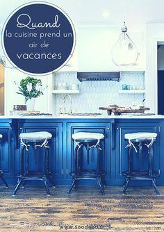 Grand classique des maisons de vacances en Normandie, le style bord de mer ou encore décoration marine est symbole de détente et de relaxation. www.soodeco.fr