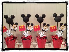 Mickey Mouse Birthday centerpieces