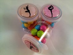 Gymnastics Party Favors-Candy Favor-Candy Pods-Birthday Party Favors-Gymnastics Candy Favor