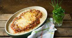 Ovenschotel met rijst en bolognaisesaus Weekly Menu Planning, Lasagna, Macaroni And Cheese, Pasta, Foodies, Good Food, Breakfast, Ethnic Recipes, Drinks