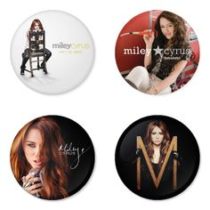"MILEY CYRUS 1.75"" Badges Pinbacks, Mirror, Magnet, Bottle Opener Keychain http://www.amazon.com/gp/product/B00IFF0S0Y"