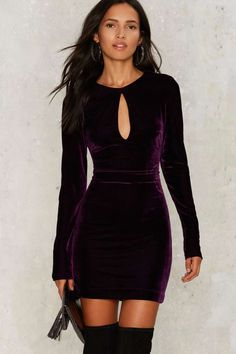 Nasty Gal Key the Change Velvet Dress - Clothes   Fall Bohemia   Best Sellers   Cocktail Dresses   Bodycon Dresses
