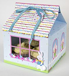 Bunny Large Cupcake Box (3) via Cupcakes and Swirls
