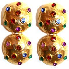 Rainbow Rhinestone Chandelier Earrings